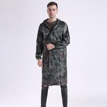 110cm Adult Camouflage Raincoat Waterproof Outdoor Rain Wear Coat Poncho Household Merchandises Raincoats Home