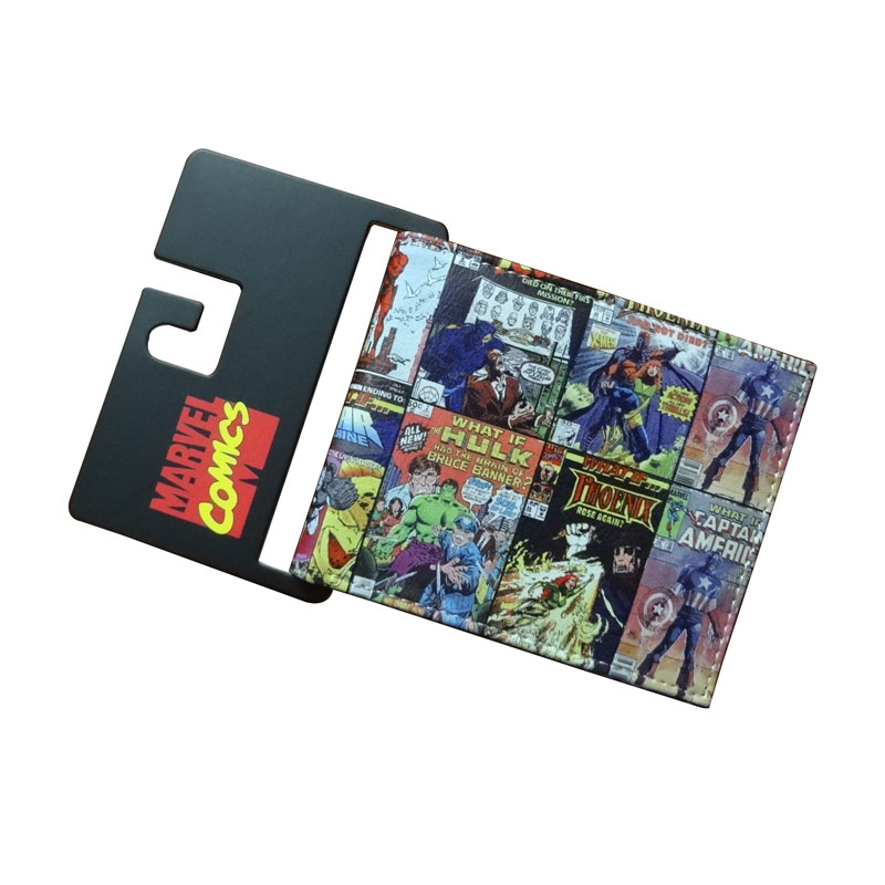 все цены на Marvel Comic Wallets Book of The Alliance Anime The United States Captain of America Iron Man Green Giant Spider Man Wallet онлайн