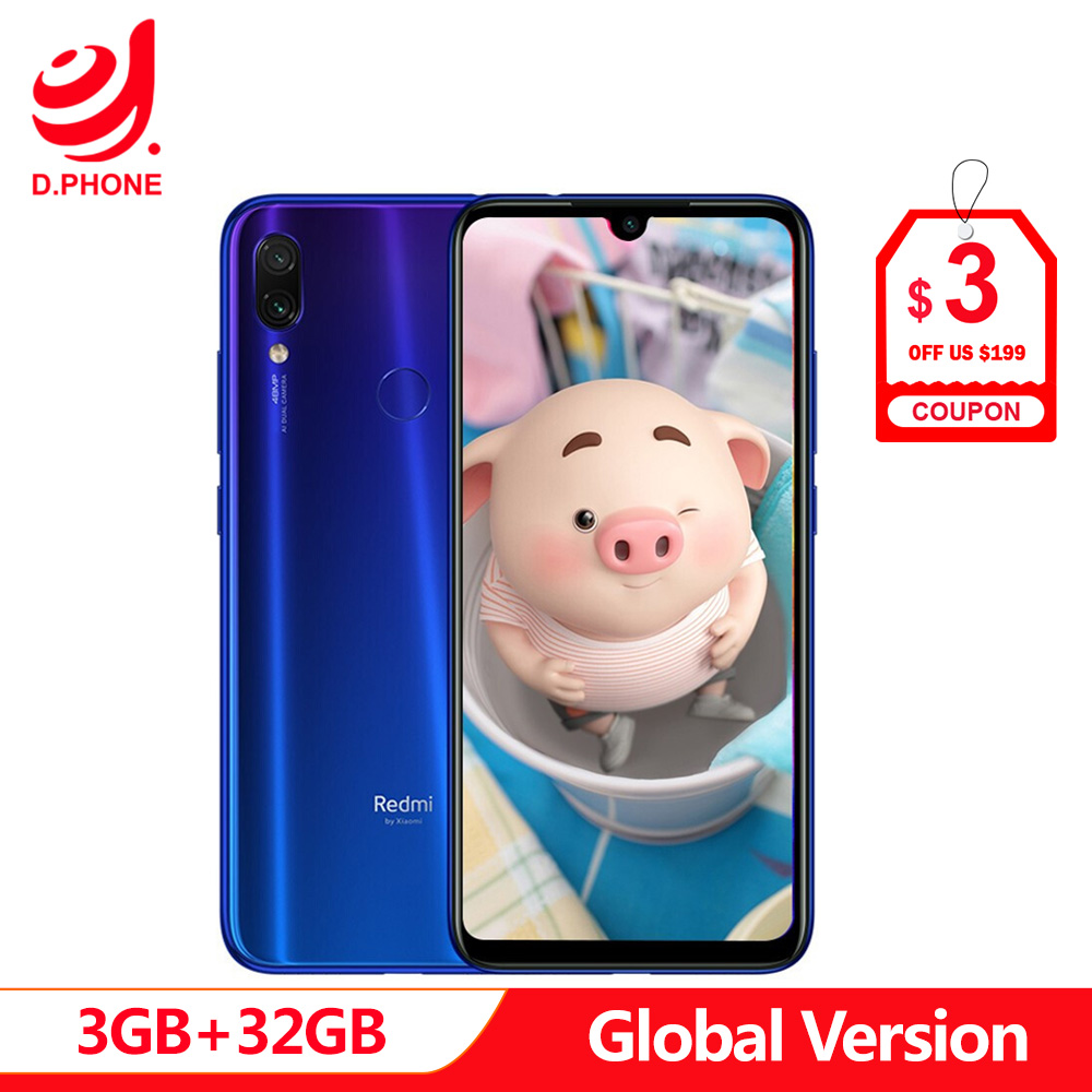 Version globale 3 GB Ram 32 GB Rom Xiaomi Redmi Note 7 Octa Core Snapdragon 660 AIE 6.3