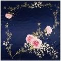 90 см * 90 см 2016 Весна Новое Прибытие Франция Евро Фирменный Стиль Женщины Мода Шелковый Полиэстер Платок Большой размер Шелковый Платок