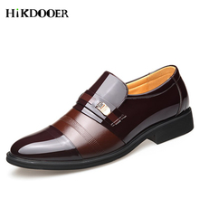 купить New Genuine Leather Men Wedding Dress Shoes Pointed Toe Flat Business Shoes British Lace-up Men's Leather Formal Shoes по цене 1236.84 рублей