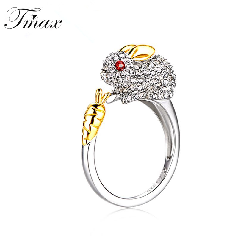 TengMaxi Exaggerated finger ring for lady cz zircon exquisite Girls women Party Ring Fashion Chinese Zodiac Animal Jewelry