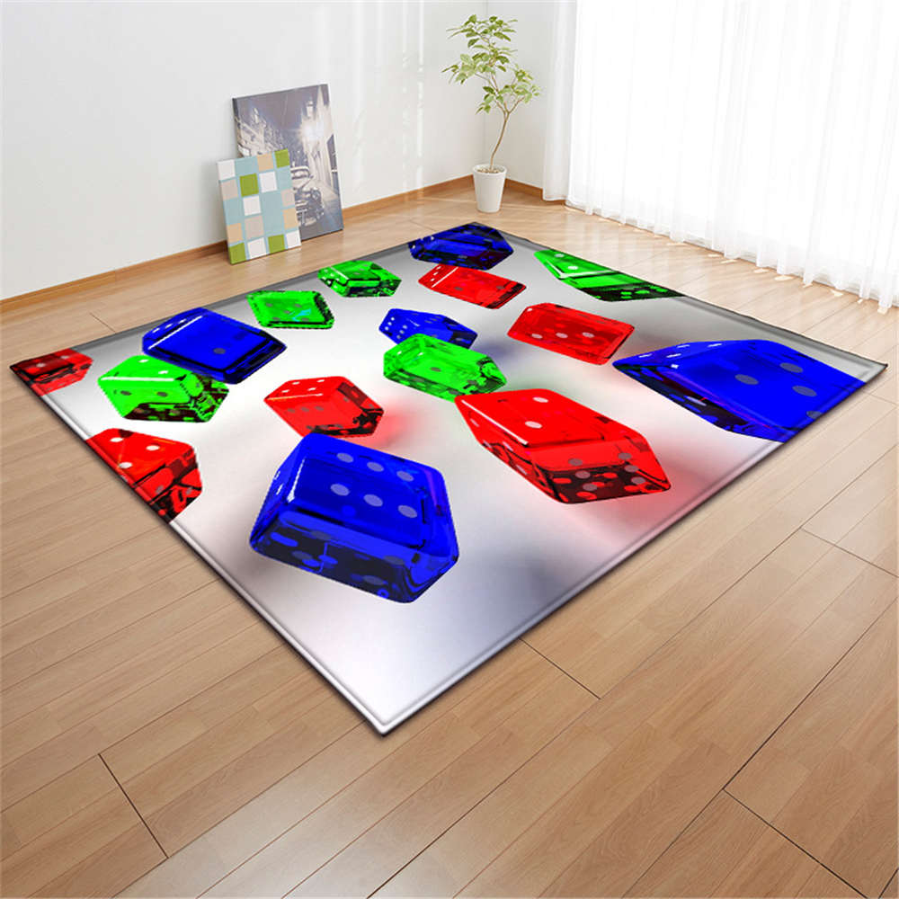 US $27.74 33% OFF|3D Black Balls Carpets Baby Play Mat Flannel Memory Foam  Childrens Bedroom Bedside Tea Table Area Rugs Living Room Carpet-in Carpet  ...