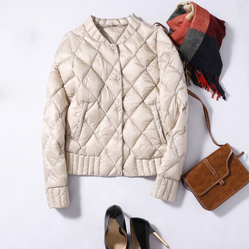 SEDUTMO Winter Plus Size 3XL Womens Down Jackets Ultra Light Duck Down Doat Short Puffer Jacket  Autumn Parkas ED039