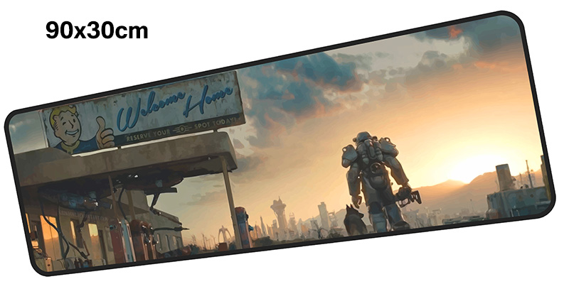 лучшая цена fallout mouse pad gamer 900x300mm notbook mouse mat large gaming mousepad large Mass pattern pad mouse PC desk padmouse