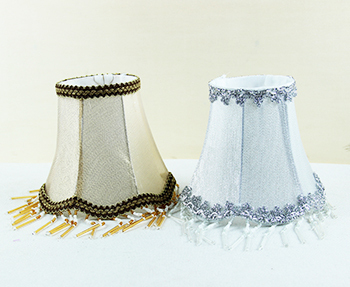 handmade lamp shades chandelier, Wall lamp shades, Golden Silver ...