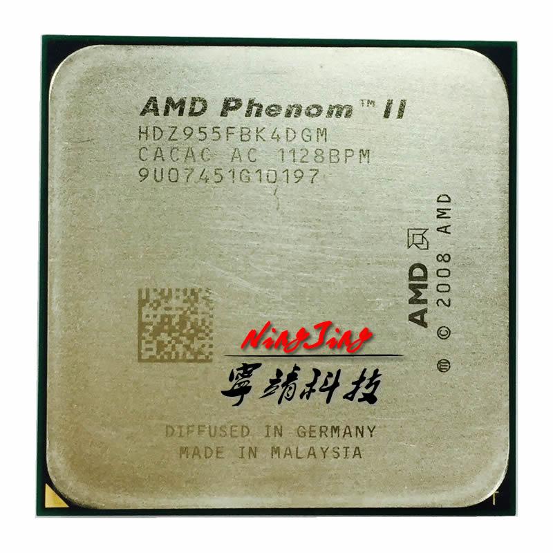 AMD CPU Processor Hdz955fbk4dgm-Socket AM3 Quad-Core Phenom-Ii X4 955 Ghz 125W