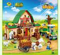 541 unids happy farm building block juguetes 8579 agricultor banbao building block juguetes educativos diy ladrillos compatibles con lego 7637