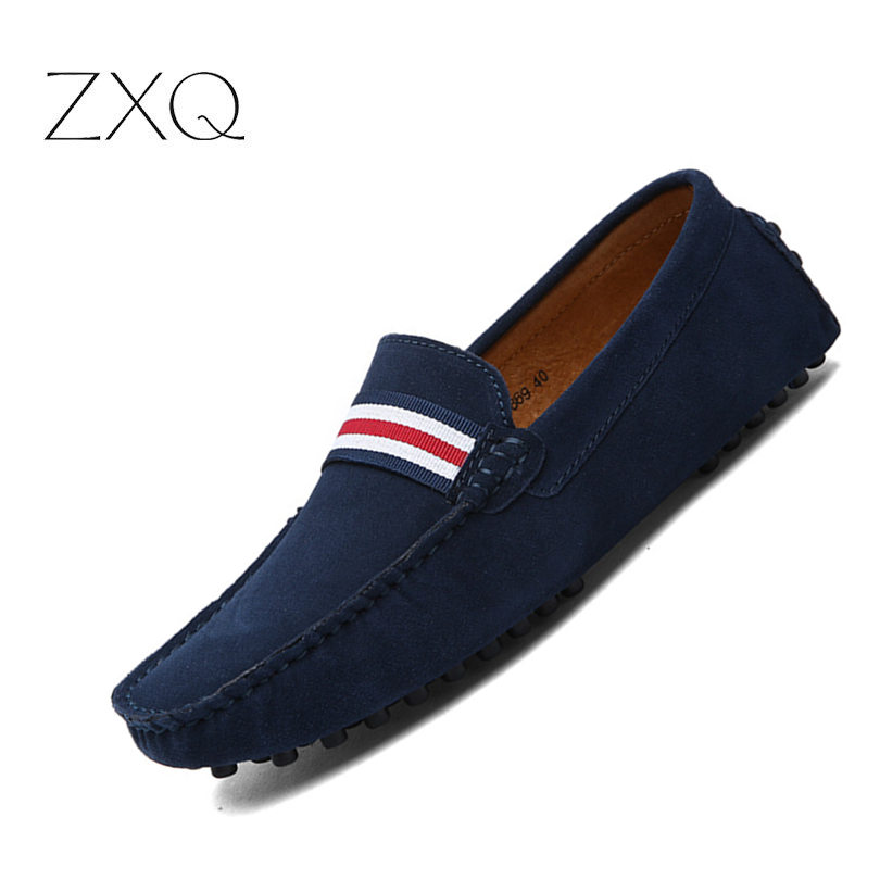 Autumn Men Comfort Driving Shoes Fashion Mens Loafers Slip On Mocassins   Suede     Leather   Shoe Zapatos Homme