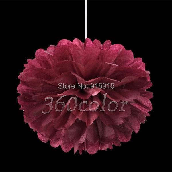 10pcslot burgundy 8 inch 20cm tissue paper pom poms paper flower 10pcslot burgundy 8 inch 20cm tissue paper pom poms paper flower balls mightylinksfo