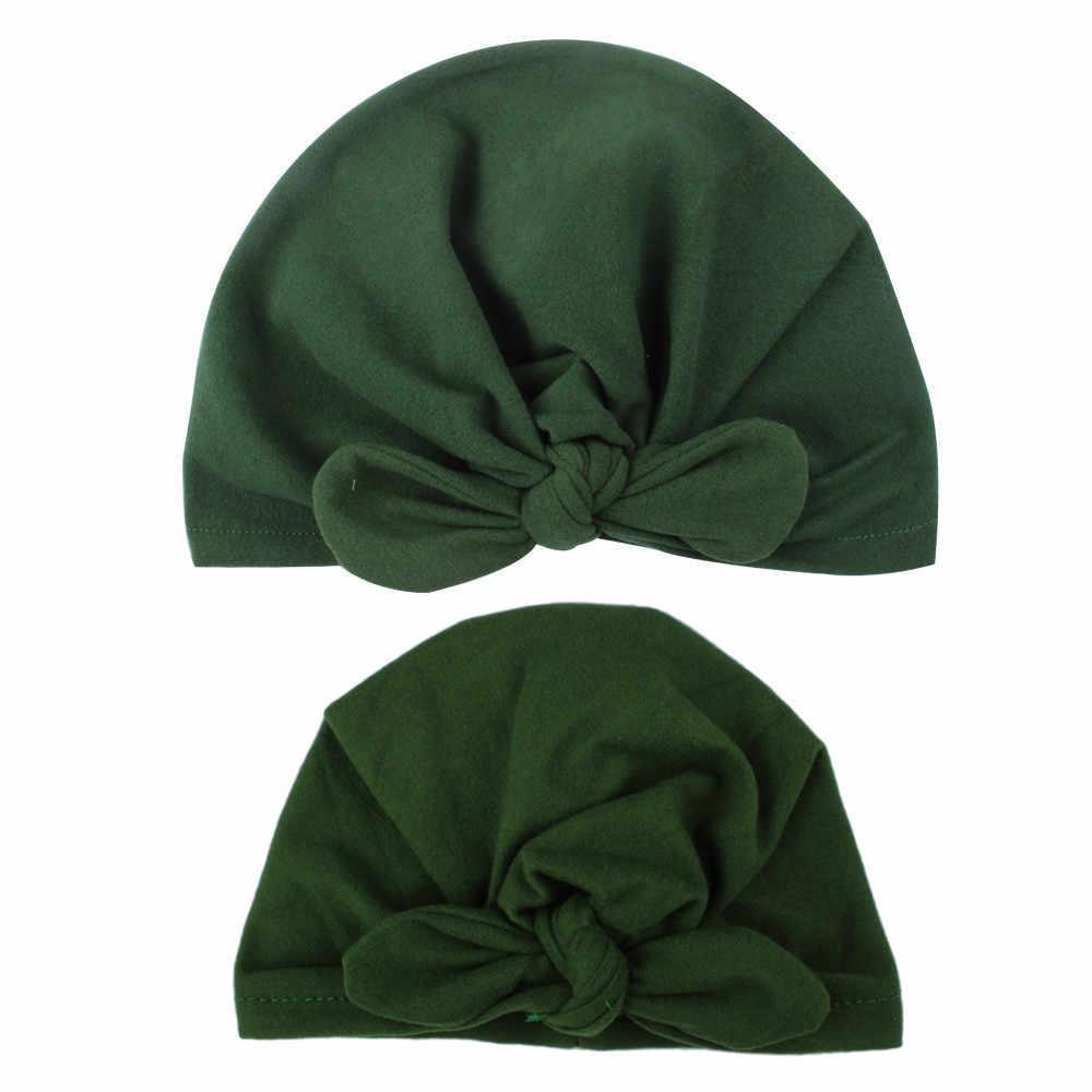 ... MUQGEW Cute Newborn Hats Toddler Kids Baby Boys Girls Turban Cotton  Beanie Hat Winter Warm Cap 7f5168cb9b14