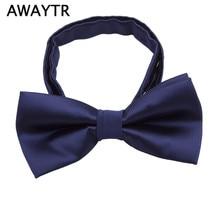 7028276c1d09 AWAYTR New 2019 Fashion Children Adjustable Bowtie Lovely Butterfly Kids  Boys Back School Bow Tie Wedding