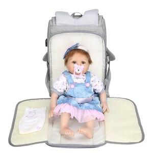 Image 2 - Nass Usb Mumie Mutterschaft Baby Windel Tasche Taschen Rucksack Organizer Für Mumie Mutter Mutterschaft Baby Taschen Für Mama Kinderwagen Windel tasche