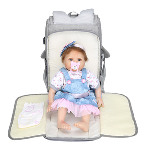Image 2 - Wet Usb Mummy Maternity Baby Diaper Bag Bags Backpack Organizer For Mummy Mother Maternity Baby Bags For Mom Stroller Diaper Bag