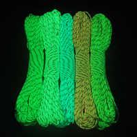 CAMPINGSKY Glow In The Dark Riflettente Cordini di sicurezza 9 Fili 5 colori disponibili Cavo Dei Paracadute di Sopravvivenza
