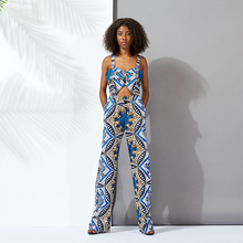 African Clothes For women Jumpsuit Ankara Cotton print waxSexy hollow out long pant high quality clothes