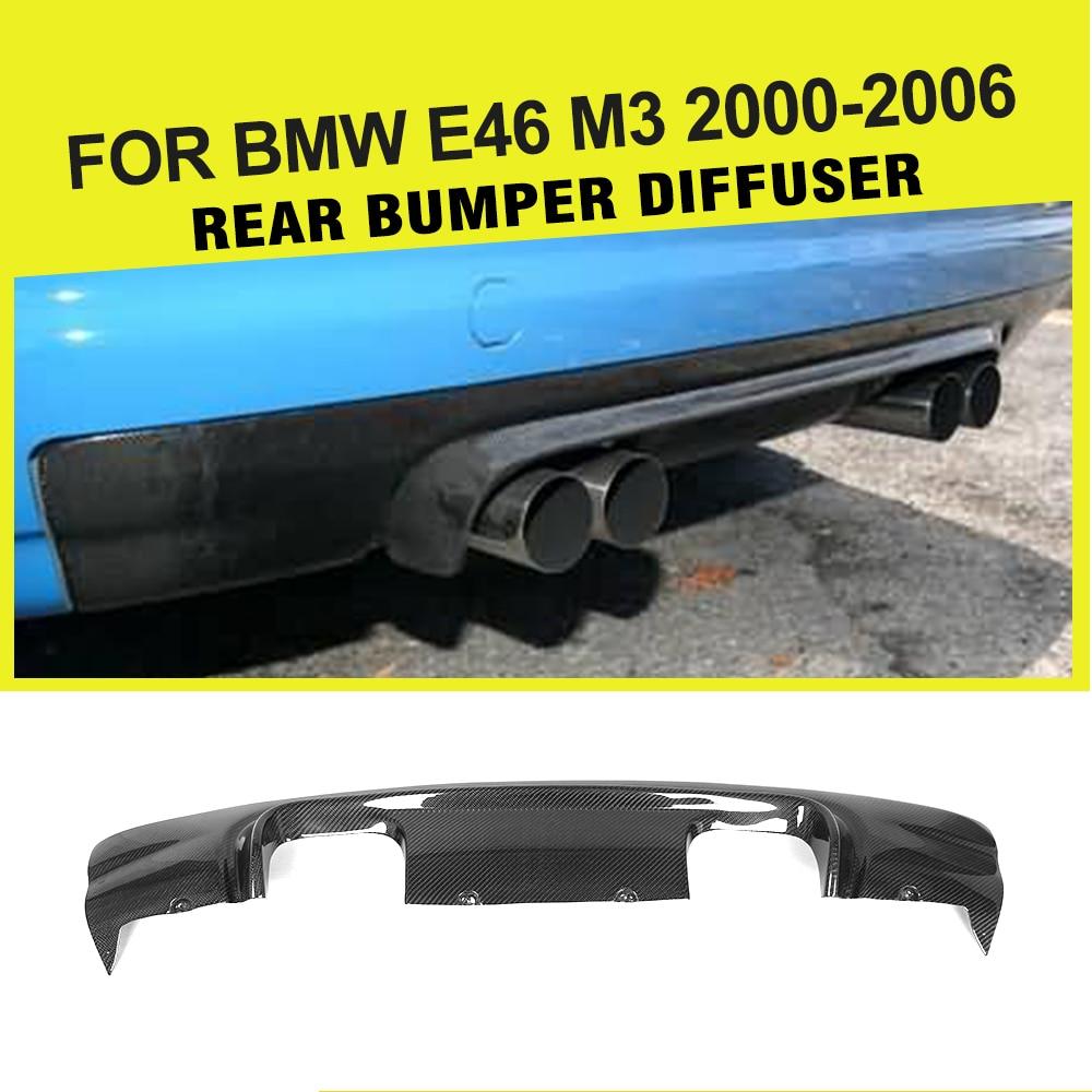 Car styling Carbon Fiber Auto Rear Diffuser Lip for BMW 325I E46 M3 Bumper Only 2001 2005