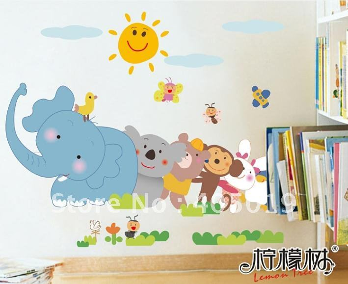 Jungle Animal Decals For Walls