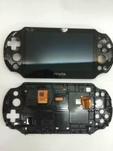 Novo original para ps vita psv psvita 2 2000 tela lcd montado preto com filme protetor de tela
