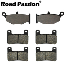 Road Passion Motorcycle Front & Rear Brake Pads For SUZUKI GSXR750 / GSXR600 06-10 GSXR1000 GSXR 1000 07-10 for suzuki gsf1200 01 05 motorcycle front and rear brake pads set