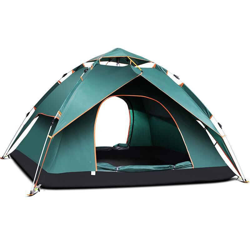 Multifunctional Dual Layer Waterproof Camping Tent Quick Automatic Open Open Anti Uv Tent Tourist Outdoor Hiking Tent AA12023 outdoor multifunctional tent fixed clamp