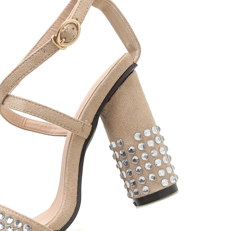 Sandalias De Cruz Zapatos Tacón Vestido Moda Imitación Talón Fiesta Las 10 Hebilla Alto Diamante Oficina Damas Cm Sexy Mujeres IwxC8xqt