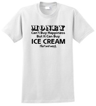 Design Your Own Shirt Crew Neck CanT Buy Happiness But It Can Ice Cream  Short Sleeve T Shirts For Men