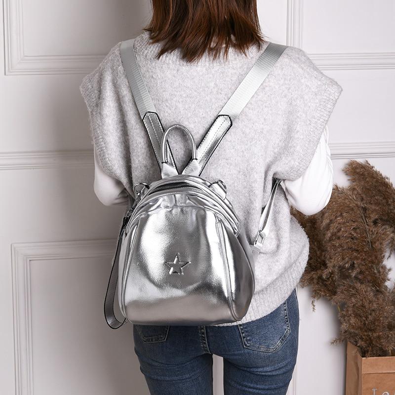 Soft Women Backpacks Women's Pu Leather Backpacks Female School Backpack Women Shoulder Bags For Teenage Girls Travel Back