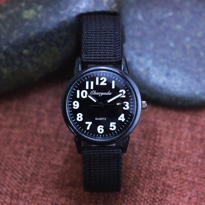2018 Famous Hot Seller Children Boys Canvas Breathable Quartz Wristwatch Students Kids Clear Digital Military Fashion Watches