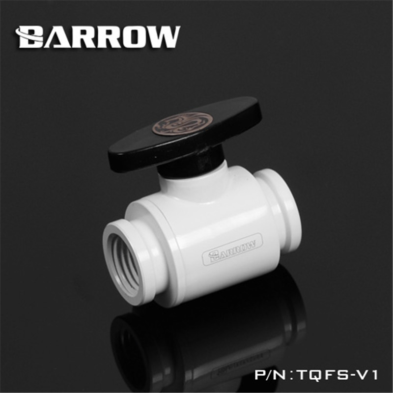 G1/4 Mini Valve Ordinary Handle Double Inner Ball Stop Ball Valve Black/White/Silver For Water Cooling  TQFS-V1 water gas control 1 4 female to female thread level handle full port ball valve zmm