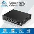 Mini PC Fanless 4 LAN Router Firewall Celeron J1900 Quad Core pfsense Linux Industrial Computer VPN Network Windows 7 VGA 4 RJ45