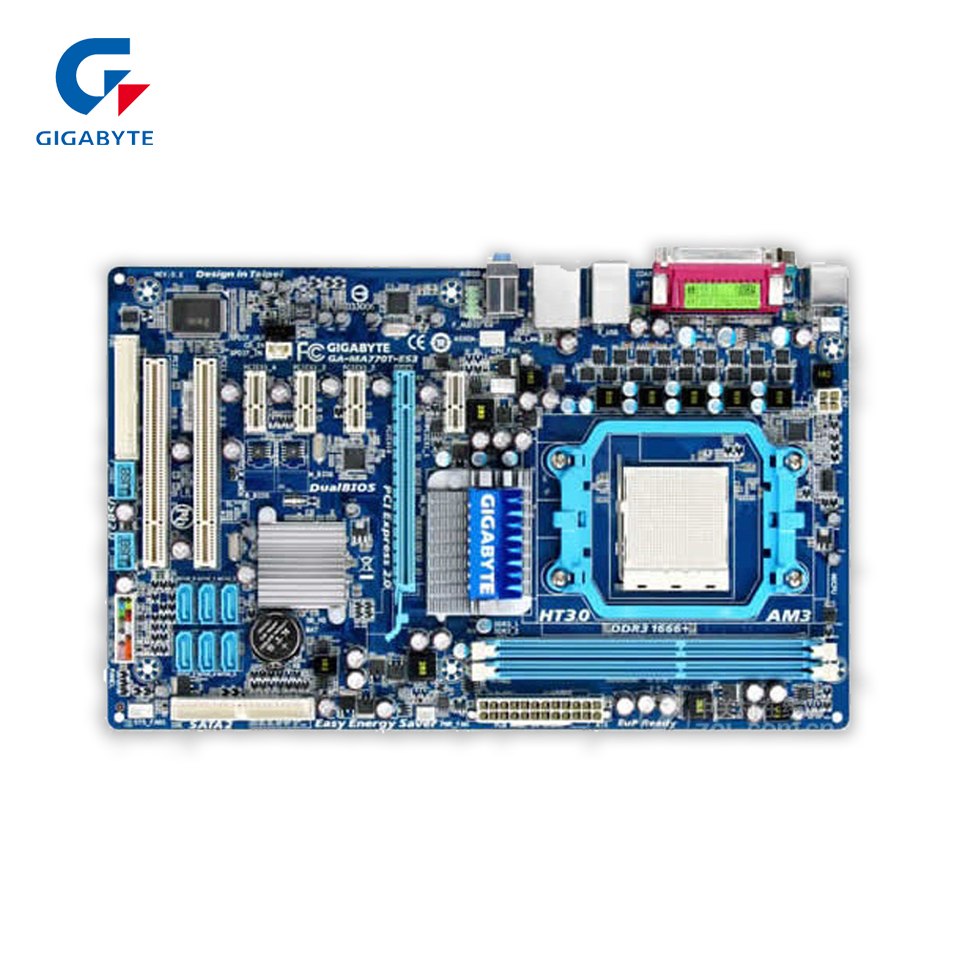 купить Gigabyte GA-MA770T-ES3 Original Used Desktop Motherboard 770 Socket AM3 DDR3 SATA2 USB2.0 ATX недорого