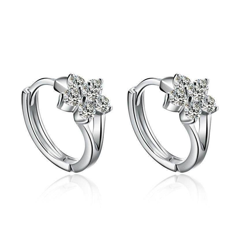 Fashion Silver Stud Earrings Wos