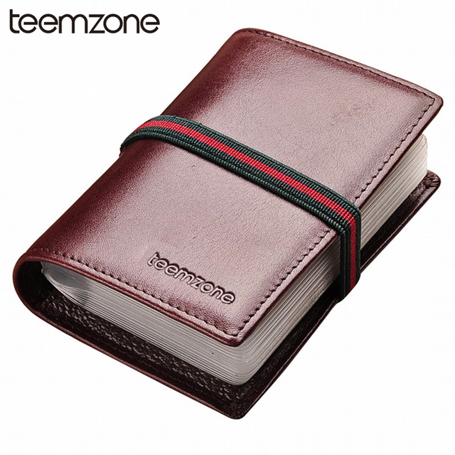 teemzone Free Shipping Gradient  Fashion Style Women Men's Unisex  Genuine Leather  Card credit Business Card  Case Holder K312