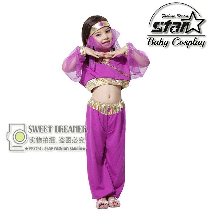 2016 Halloween Cosplay Girl Dress Arab India Jasmine Princess Costume Children Greek Goddess Clothing Fairy Performance Costume halloween cosplay costume children little napoleon long acting costume