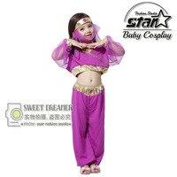 2018 Halloween Cosplay Girl Dress Arab India Jasmine Princess Costume Children Greek Goddess Clothing Fairy Performance Costume