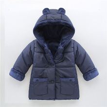 2016 детские мягкие зимние пальто ребенка вниз лайнера плюс толстый хлопчатобумажный бархат ребенка из одежды для мальчика и девочки