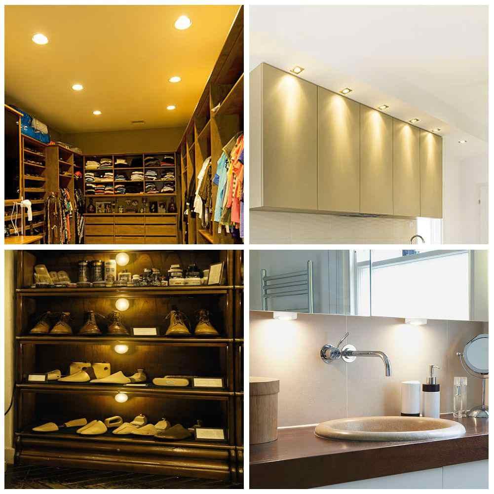 Litake датчик касания с регулируемой яркостью светодиодный под Кухонные шкафы фонари светодиодные шайбы для закрыть шкаф Лестницы прихожей ночника