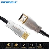 Anmck 4K 2.0 HDMI Optical Fiber Cable 10M 20M 30M 50M 60M 80M 100M 60Hz Fiber Optic Cables For HD TV Box PS4 Xbox Projector