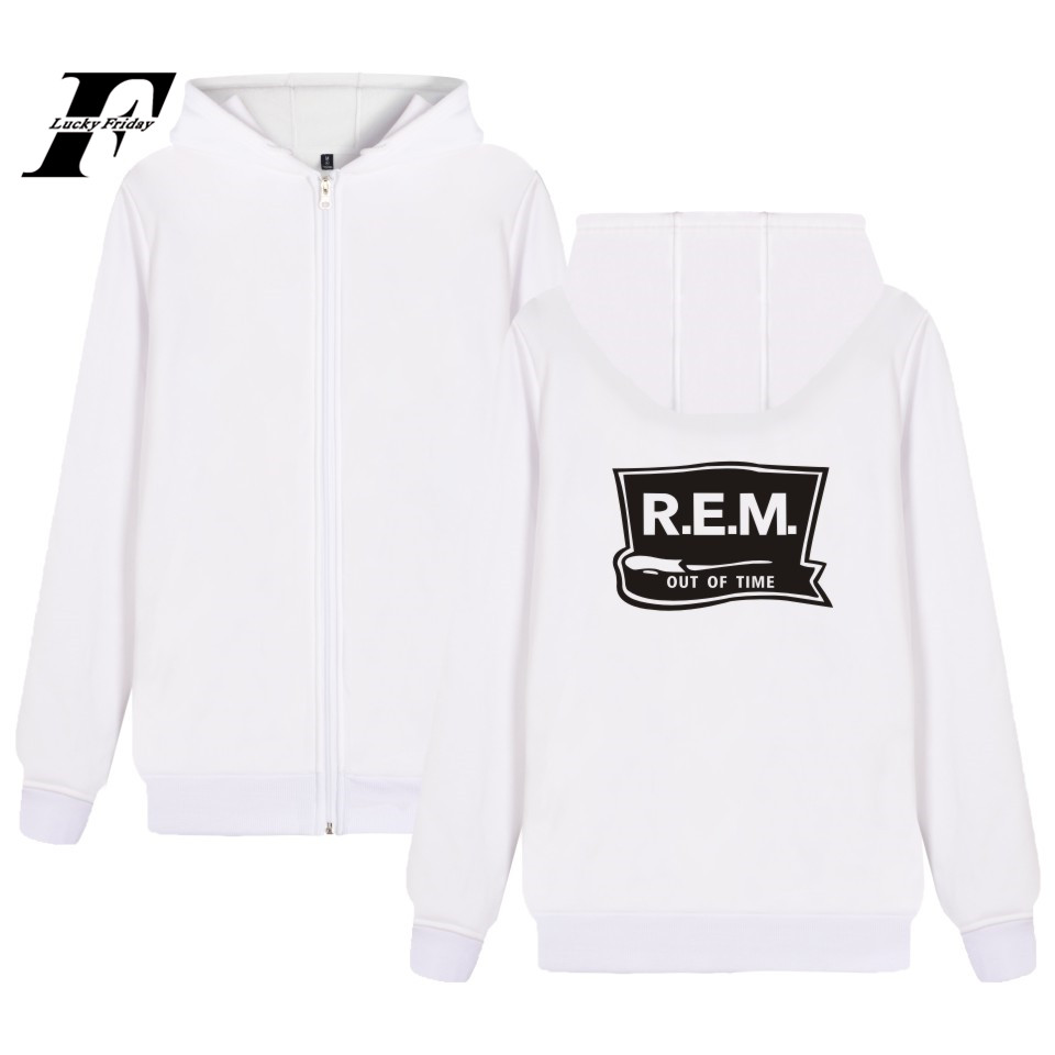 LUCKYFRIDAYF Rock Cream Hoodie Zipper Music Band Sweatshirt Winter High Quality Coat Plus font b Jacket