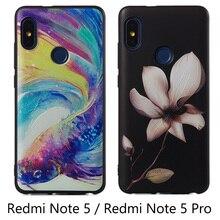 hot deal buy 3d premium flowers case xiaomi redmi note 5 silicone soft cover xiaomi redmi note 5 pro tpu case funda xiaomi redmi note 5 pro