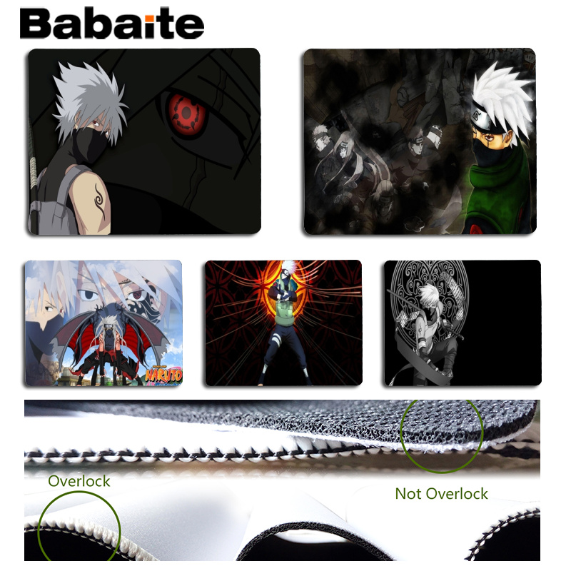 Babaite Naruto Hatake Kakashi Beautiful Anime Mouse Mat Size for 25x29cm Gaming Mousepad ...