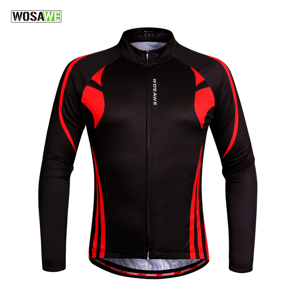 WOSAWE Men Cycling Jersey Racing Downhill MTB Bike Long Shirt Jerseys Sports wear Cycling Clothing