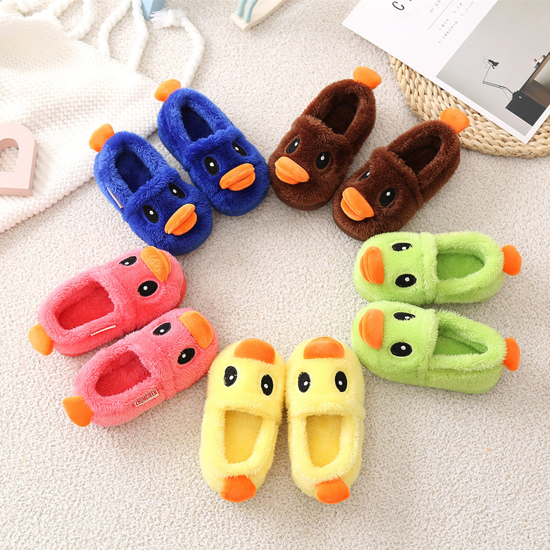 Children-Slippers-Small-Yellow-Duck-Cute-Winter-Cartoon-Shoes-Boy-Girls-Slippers-Kids-Lovely-Animal-Shape-Kids-Shoes-Pantoufles-3