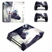The Last Guardian Decal Skin Sticker For Sony Playstation 4 PS4 Pro promotion Console protective Flim +2Pcs Controller