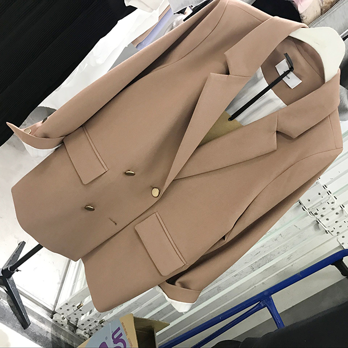 Double Boutonnage 1 Blazer Costumes De Femmes Bouton 2 Haute À Entaillé Bureau Mode Qualité Travail Printemps Outwear Automne Col Ol Lâche kuOZiPX