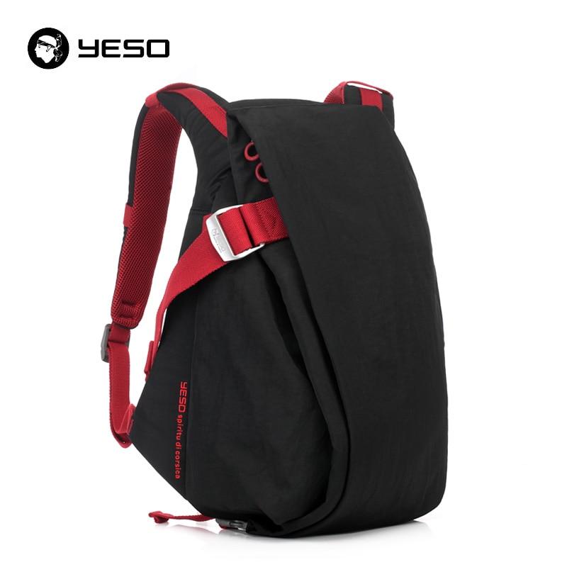 Yeso Anti Theft Backpack Men 14 15.6 Inch Laptop Backpack Waterproof Oxford Large Capacity Irregular Unisex School Backpacks Bag