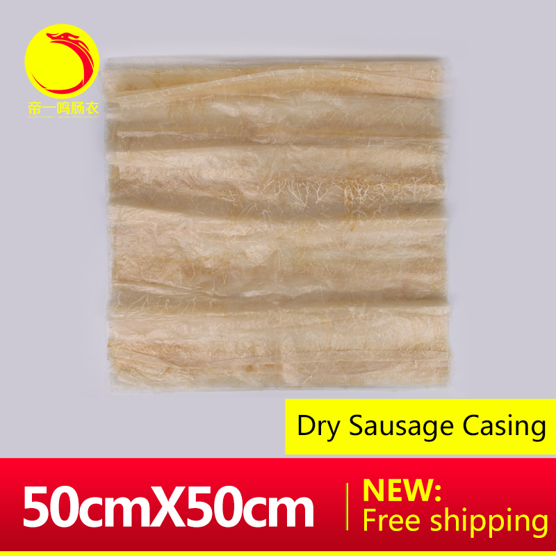 DIYIMING 10pieces big piece sausage packing casing 500*500 square per roast chicken meat package dry