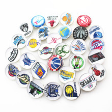 100pcs/lot Mix Basketball Snap Buttons for 18mm Snap Bracelet&Bangles Pendant necklace DIY Snap Jewelry Charms