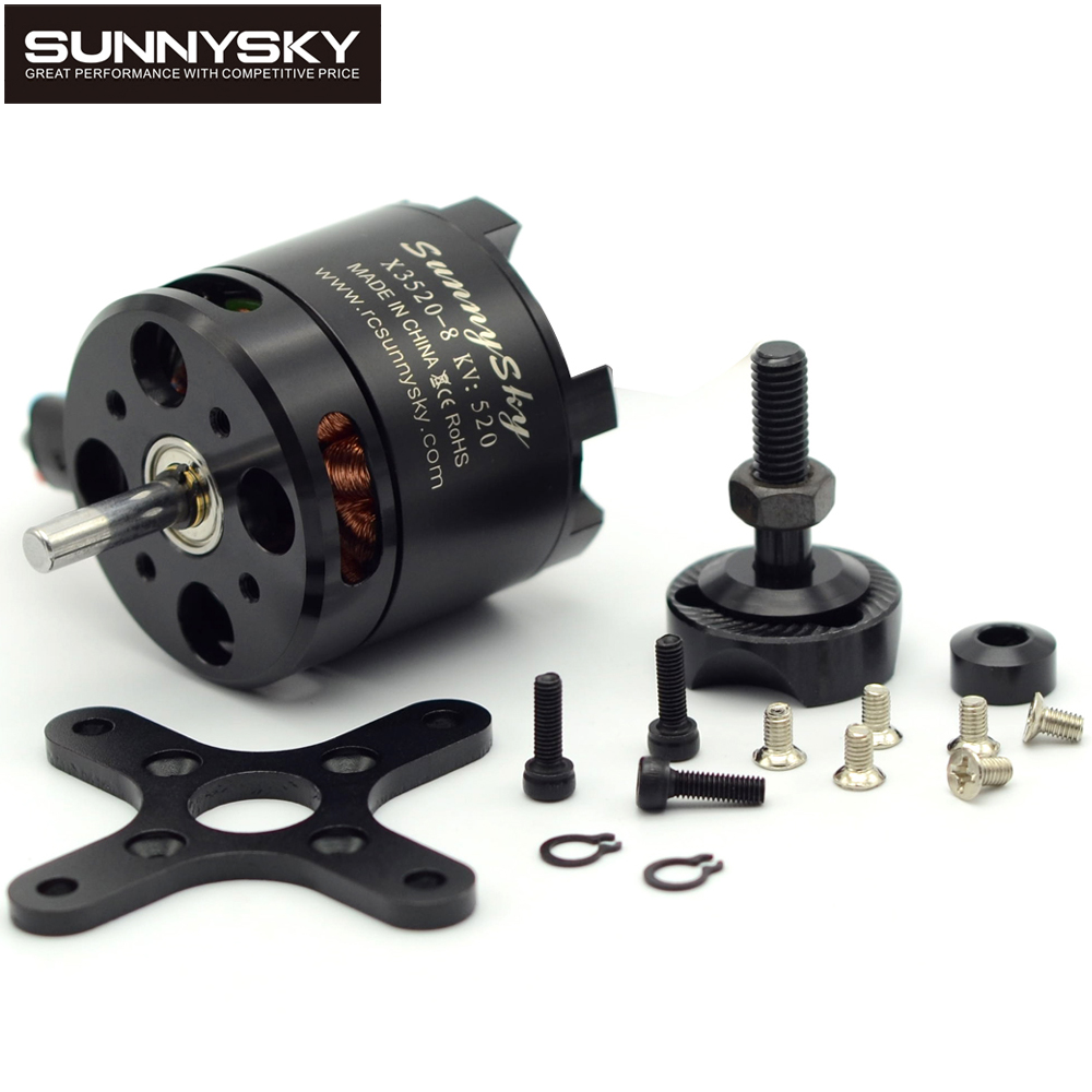 1pcs Sunnysky X3520 KV520 KV720 KV880 6S Brushless Motor For RC Models FPV Quadcopter drones sunnysky x3525 520kv 720kv 880kv brushless motor x series kv520 kv720 kv880 motor kit for fpv multicopter quadcopter drone uav